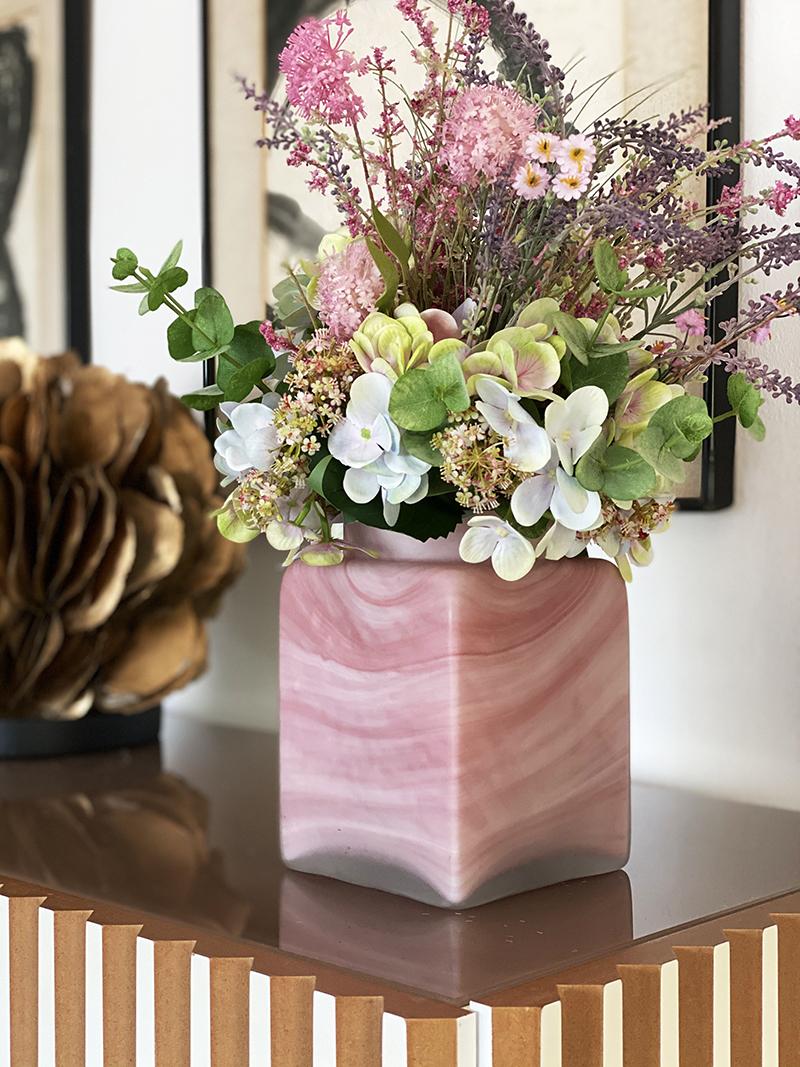 Ramos de hortensias hortensias flores flores artificiales interiorismo con flores
