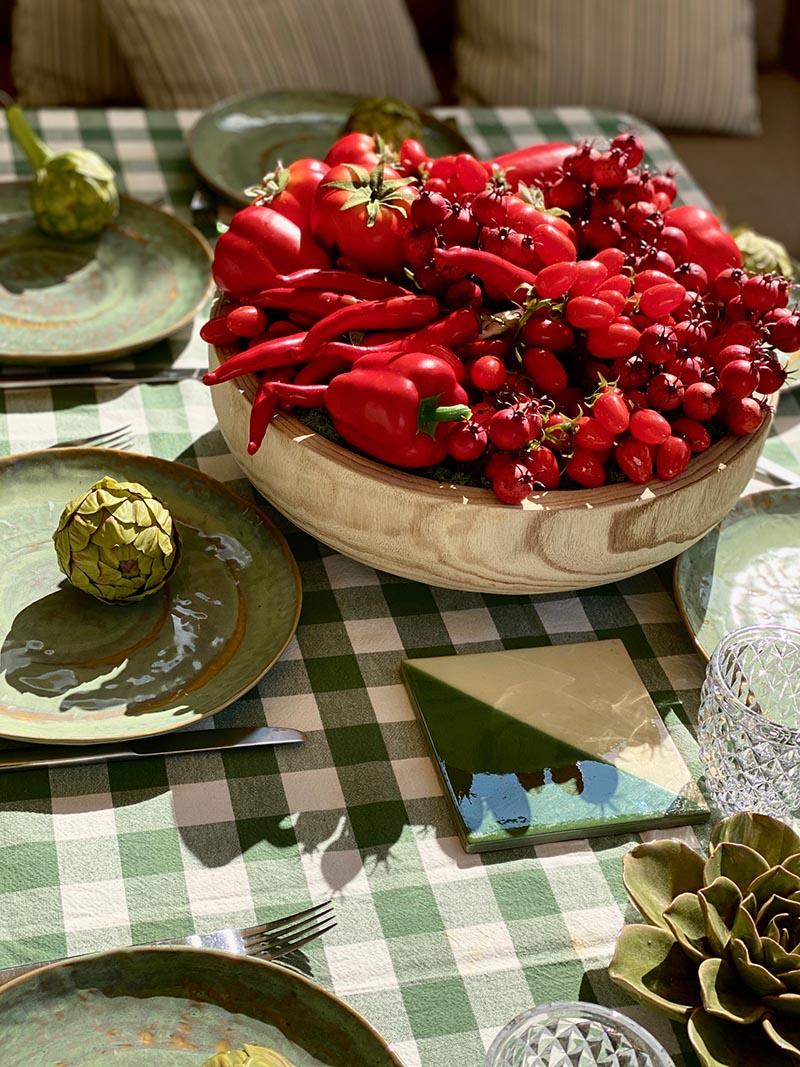 tomates, aquihaytomate, centrodecorativo de verduras